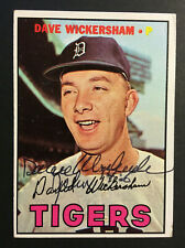 Dave Wickersham Tigers signed 1967 Topps baseball card #112 INS bible verse auto