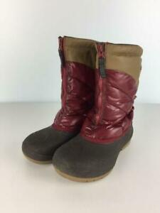 Columbia  25Cm Red Nylon Rubber Swimming Red Front Zip Brown Fashion boots