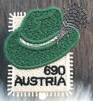Österreich 2018 Nr 3430 Steirerhut Guipure-Stickerei Atlasgewebe Handarbeit