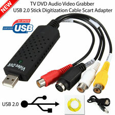 USB 2.0 Audio TV Video VHS to PC DVD VCR Converter Easy Capture Card Adapter New