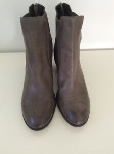 Django Juliette Leather Ankle Boots Olive New Size 37 #79