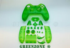 Clear Green Xbox One Replacement Custom Controller Shell with Buttons Mod Kit