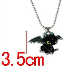 NEW How To Train Your Dragon 2 Toothless Night Fury Metal Necklace Pendant Gift