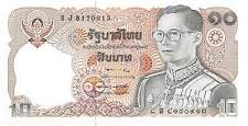 Thailand  10 Baht  ND. 1980  P 87  sign. # 57 Series 8 J Uncirculated Banknote