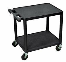 Luxor - LP26-B - 26H A/V Cart - Two Shelves