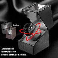 Uhrenbeweger Watchwinder Automatisch für 1 Uhren Uhrendreher Kasten PU-Leder