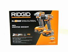 RIDGID 18V Brushless Drill Driver & Impact Driver Set w/ Battery & Charger P9780