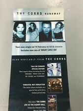 THE CORRS ORIGINAL PROMOTIONAL RECORD SHOP POSTER RUNAWAY