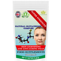 Glutathione Complex 5000mg Super Strength Skin Whitening Anti-Ageing, UK