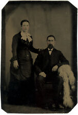 Photo Ferrotype Portrait Couple Vers 1870