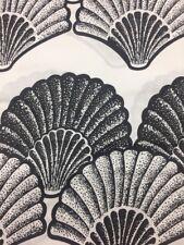 New Designer Black / White African Print Crafts Dresses Making Sold Per Yard