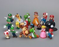 18 PCs Super Mario Bros Yoshi Dinosaur Figure Toy Children Collection Rare