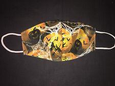 Halloween Fancy Face Mask Pumpkins Glitter Rhinestones Cotton Comfortable,Bling