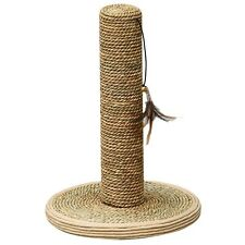 """Pet Pals Seagrass Scratching Post for Cats 10"""" Base x 15"""" High"""