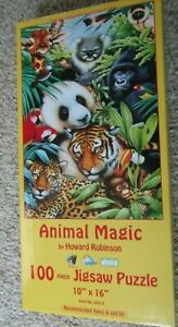 "Sunsout Inc AINIMAL MAGIC 100 pc Jigsaw Puzzle By Howard Robinson 10"" x 16"""