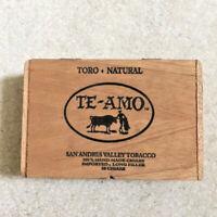 Vintage Toros Natural Te-Amo San Andres Tobacco Cigar Box - Some Lid Damage
