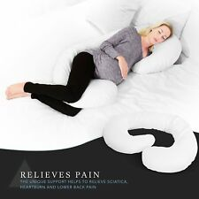 Body Pregnancy Pillow Maternity Nursing Support Cushion Washable Cover White New