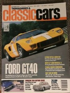 Thoroughbred & Classic cars Magazin - Oktober 2000 (u.a. FORD GT40) - Gebraucht
