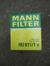 Oil Filter HU611/1x Mann VAUXHALL, SAAB, OPEL