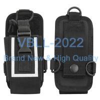 Nylon Universal Belt Case Bag W/ Reflective Stripe For MOTOROLA KENWOOD ICOM