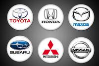 Japanese Cars Symbols Pins Toyota Honda Nissan Subaru Mitsubishi Mazda Pinback