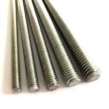 "BSW Whitworth Threaded Bar - 4.8 Mild Steel Zinc Plated Studding Rod - 18"" Long"