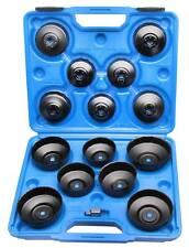 15tlg Ölfilter-Kappen-Satz Ölfilter-Schlüssel Ölwechsel Werkzeug Ölkappe Adapter