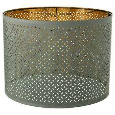 "Ikea NYMÖ NYMO Large (Floor, Pendant) Lamp Perforated Shade Green / Brass 17"""