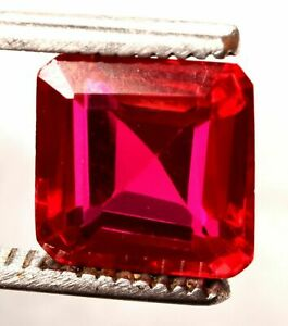 13.85 Cts. Natural Mozambique Red Ruby Emerald Cut Certified Gemstone