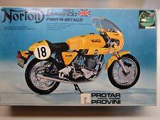 Protar 1:9 Scale Norton Commando 750 Model Kit - Used- Metal Frame Rare + Spare!