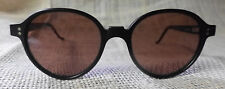 Silouette Sunglasses, Black Frames with Rounded Violet Lenses, made in  Austria