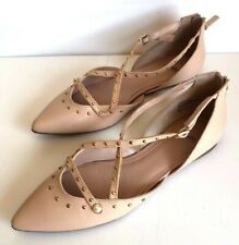 14th & Union Dru Studded Zipper Flats - Women's Size 9M - Nude