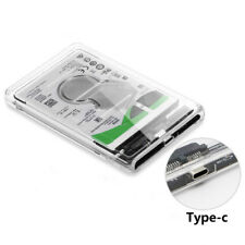 Transparent HDD Case Type C to USB3.1 2.5 inch Hard Drive Enclosure Support UASP