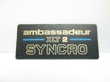ABU GARCIA REEL PART - 95014 Ambassadeur XLT 2 Syncro - (1) Label