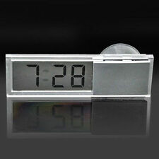 Cute Digital LCD Adsorption Small Clock Dashboard Auto Car Clock Button Battery