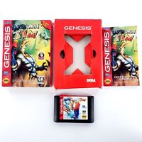 Earthworm Jim (Sega Genesis) Authentic Complete w/ Case & Manual Tested & Works