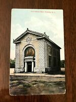 WELLSVILLE, NY, First National Bank, 1909 Litho PC