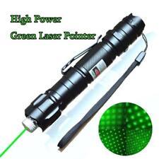 Powerful Green Laser Pointer Pen Star Cap Lazer 532nm 5mw Bright+Batt+Charger
