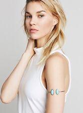 NWT Free People Stone Wrap Armband Turquoise/Silver Cuff Bracelet