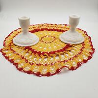 2 IMPERIAL GLASS Doeskin satin milk glass CANDLESTICK HOLDERS ROSES IG EMBOSSED