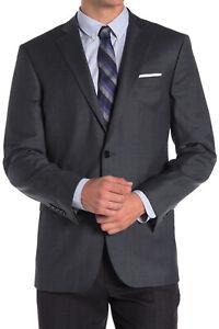 Brooks Brothers Mens Blue Grey Knit Explorer Regent Fit Wool Blazer 46R 0055-3