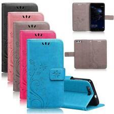 Handy Tasche für Huawei P9 Schutzhülle Blumen Flip Case Wallet Klapp Etui Schale