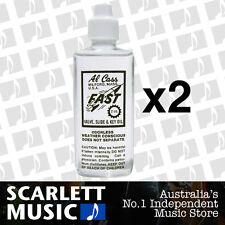 2x Al Cass FAST Valve, Slide, and Key Oil, Trumpet, Trombone *SET OF 2 BOTTLES*