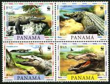PANAMA - 1997 WWF 'AMERICAN CROCODILE' Block of 4 MNH [B2443]