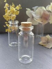 20x Miniature Glass Corked Vials Bottles 22x50mm Vase/Wedding/Jewellery/Invites