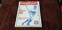 Vintage 1966 Babe Ruth League Baseball World Series Program Douglas Arizona NM