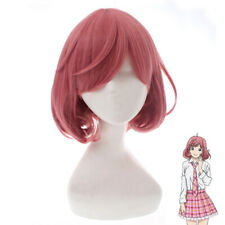 Noragami Ebisu Kofuku Women Girl Short Pink Curly Cosplay Hair Wig + Wig Cap