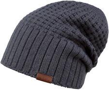 Barts Beanie Mütze Hudson Longbeanie Einheitsgröße Charcoal grau ungefüttert