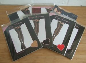 Leg Avenue Plus Size Sheer Thigh High Stockings 90-160 lb Nude Black White Red