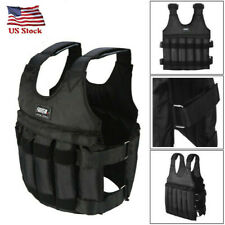 110lbs Adjustable Weighted Vest Fitness Workout Training Boxing Jacket Clothing